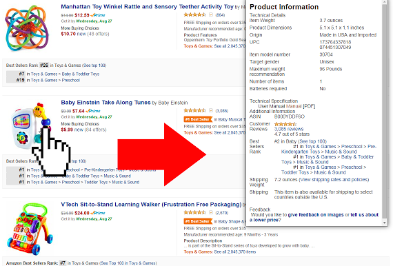 Amazon Quick View plugin
