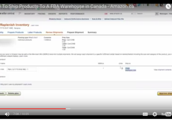 <center><b> {VIDEO} How To Ship Products To A FBA Warehouse in Canada – Amazon.ca </b></center>