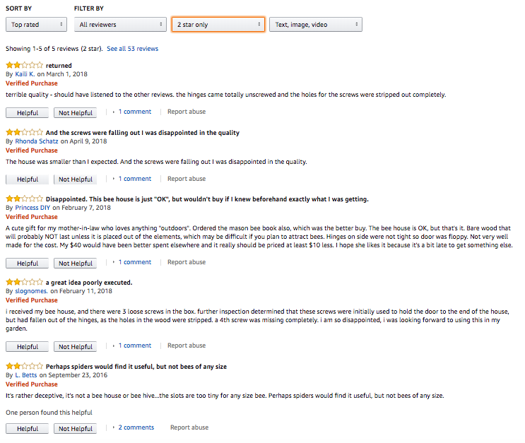 2-Star Amazon Product Review For Private Label Product