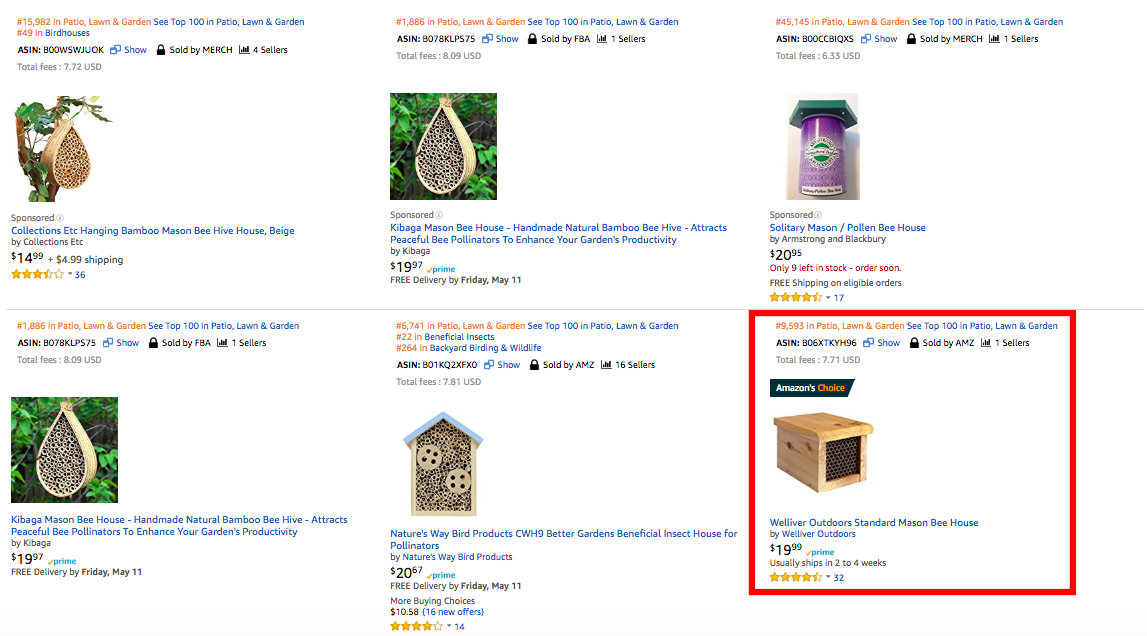Amazon's Choice Best Selling Product On Page 1